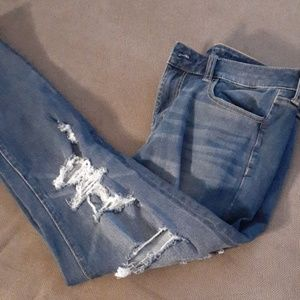 American Eagle distressed jegging Jean high-rise